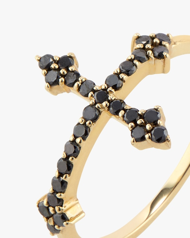 DRU. Black Diamond Cross Ring 1