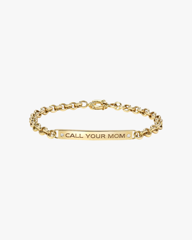 DRU. Diamond 'Call Your Mom' ID Bracelet 1