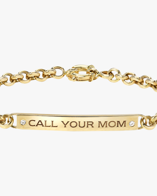 DRU. Diamond 'Call Your Mom' ID Bracelet 2