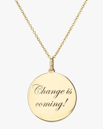 DRU. 'Change is Coming' Medallion Pendant Necklace 1