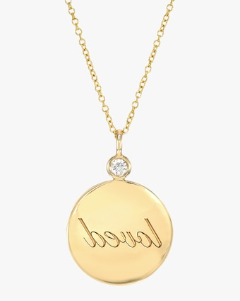 DRU. Loved Reflection Medallion Pendant Necklace 1