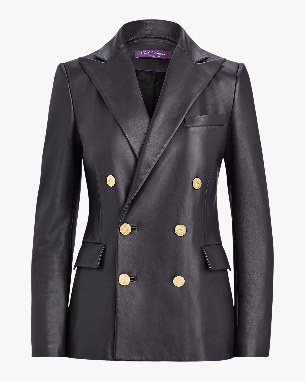 Ralph Lauren Collection Leather Camden Jacket 0