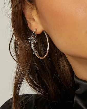 Colette Jewelry Bow Hoop Earrings 2