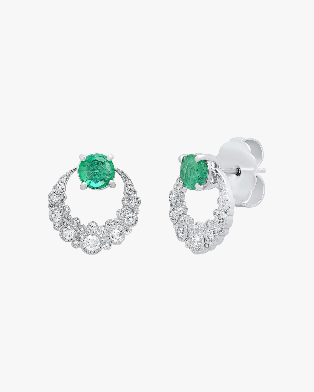 Colette Jewelry Emerald Moon Earrings 2