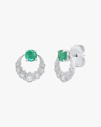 Colette Jewelry Emerald Moon Earrings 2