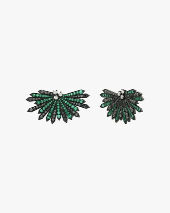 Colette Jewelry Penacho Emerald Earrings 1