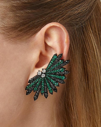 Colette Jewelry Penacho Emerald Earrings 2