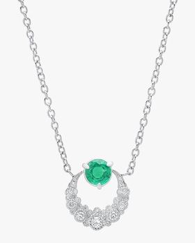 Emerald Moon Necklace