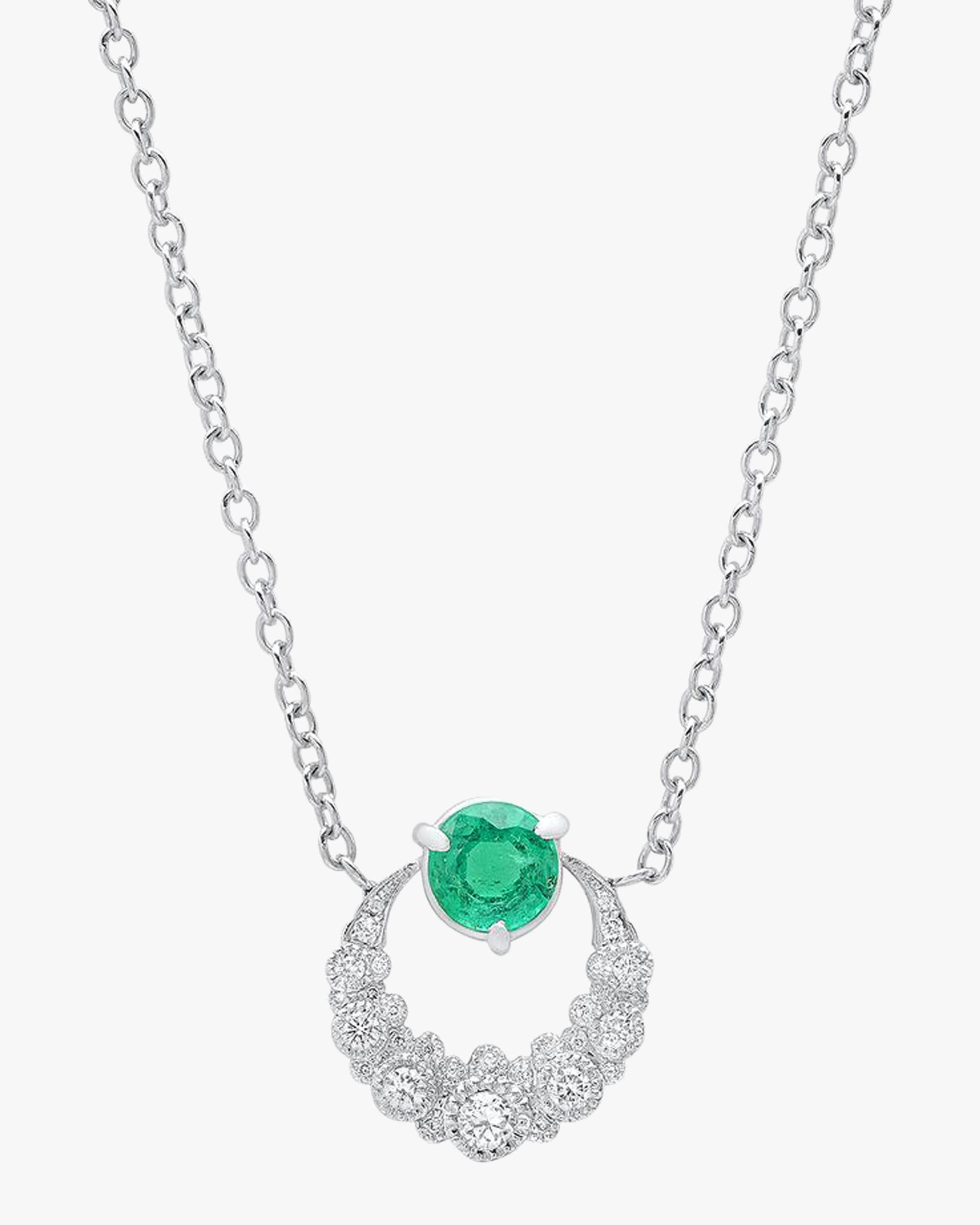 Colette Jewelry Emerald Moon Necklace 2