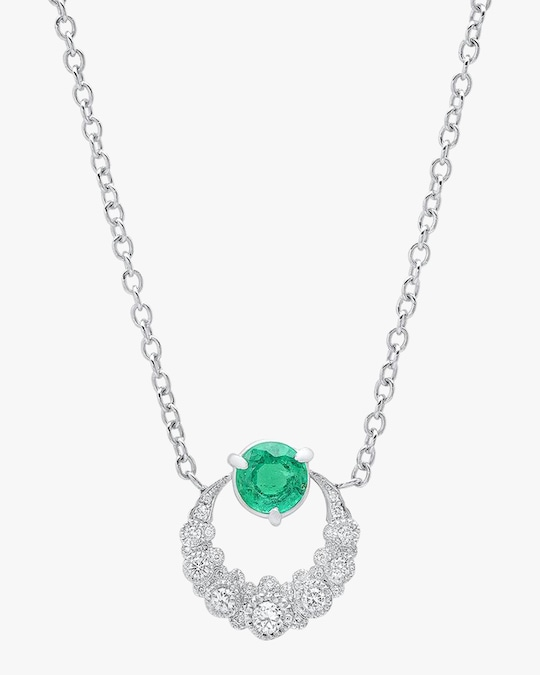 Colette Jewelry Emerald Moon Necklace 0