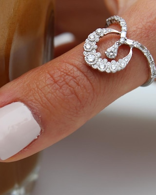 Colette Jewelry Crescent Moon Ring 2