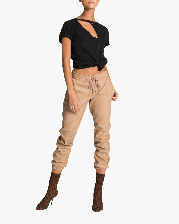 n:philanthropy Scarlett Vegan Leather Joggers 2
