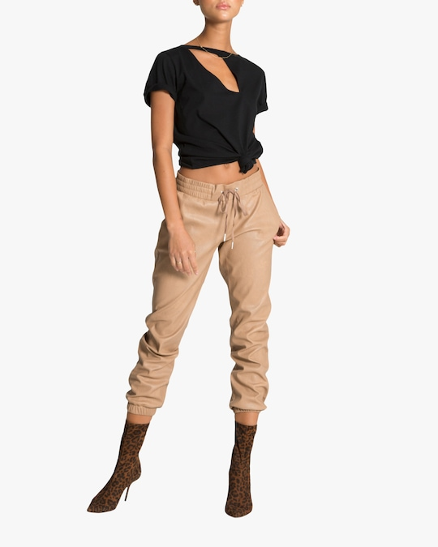 n:philanthropy Scarlett Vegan Leather Joggers 1