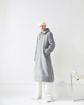 CAALO Sustainable Down Wool Overcoat 1