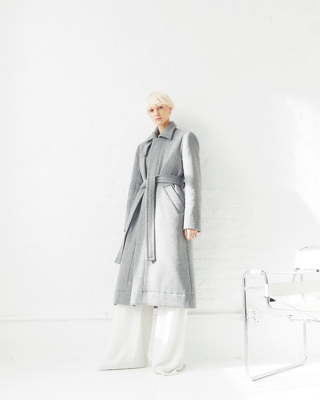 CAALO Sustainable Down Wool Overcoat 2