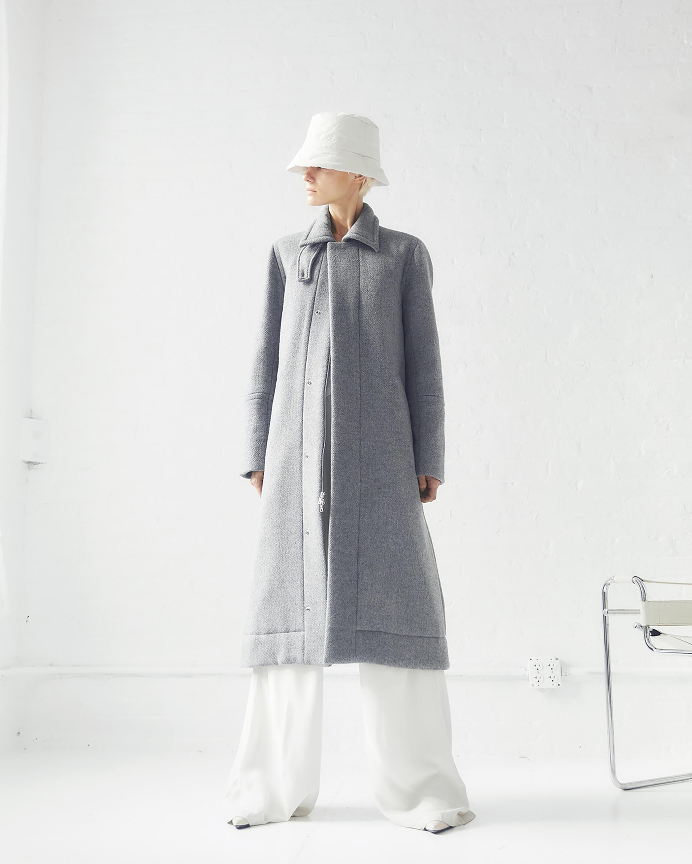 CAALO Sustainable Down Wool Overcoat 3