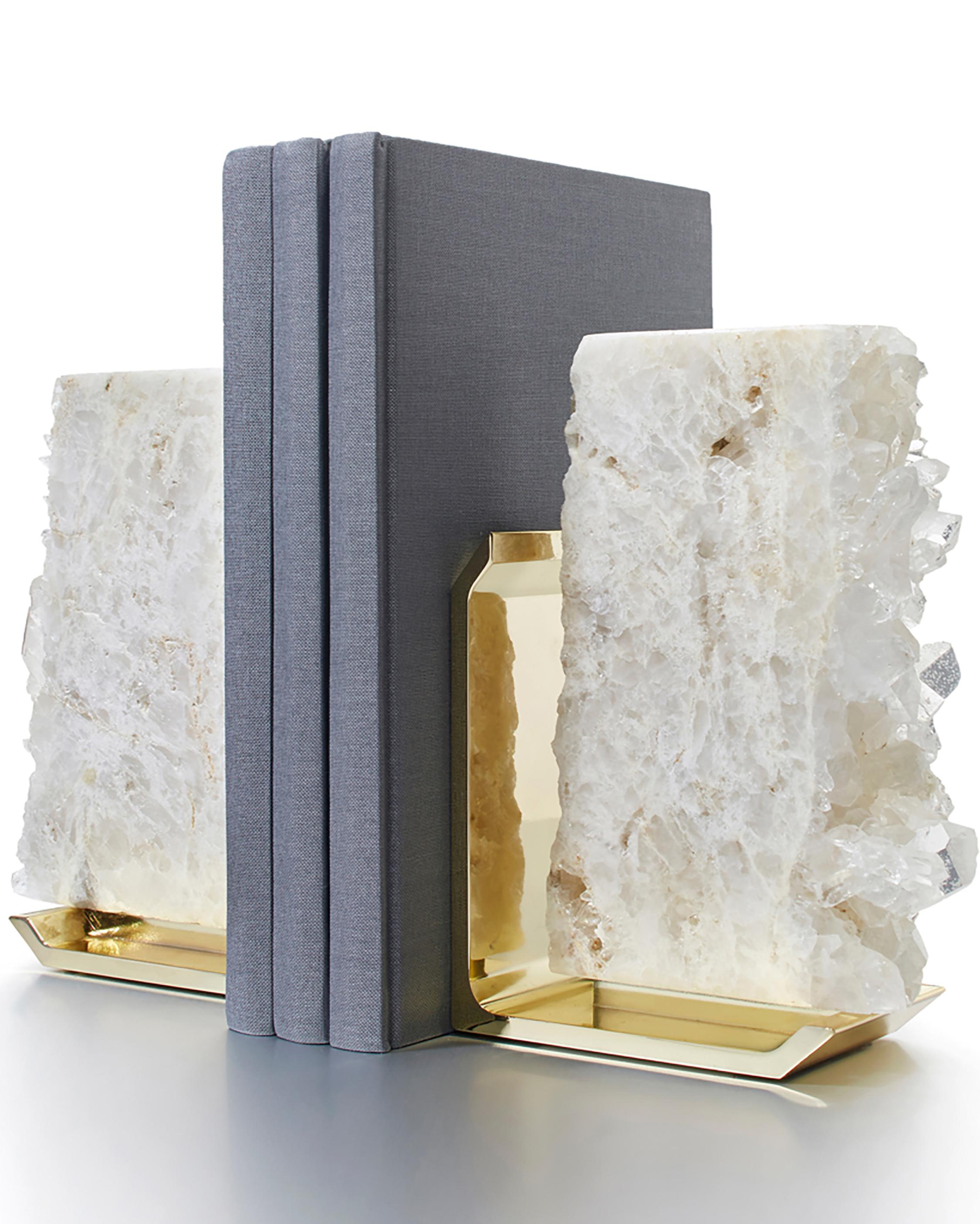 ANNA New York FIM Crystal Quartz Bookends 0