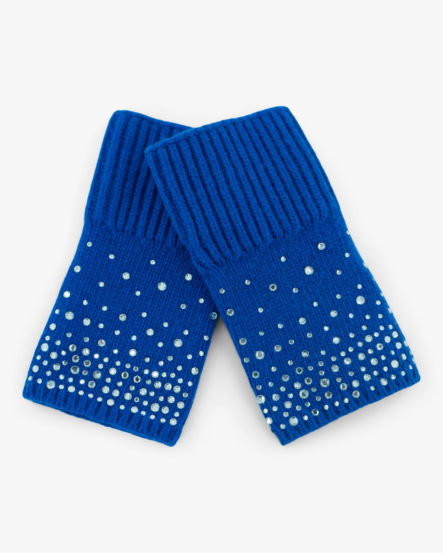 Carolyn Rowan Ombré Crystal Short Fingerless Gloves 0