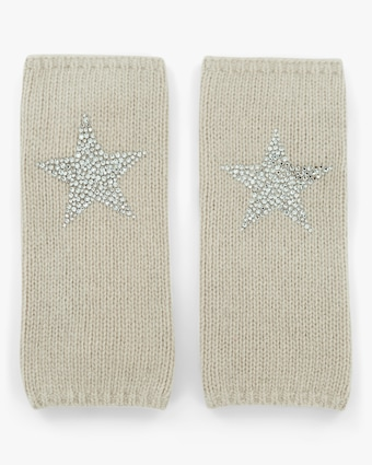 Carolyn Rowan Short Fingerless Gloves with Crystal Stars 2