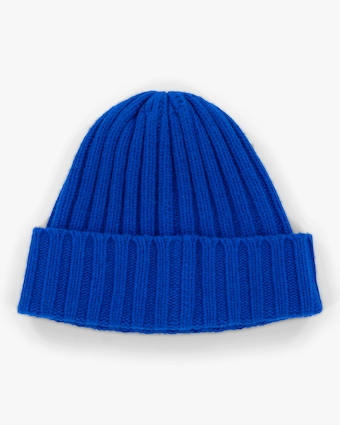 Carolyn Rowan Blue Bell Ribbed Beanie 1