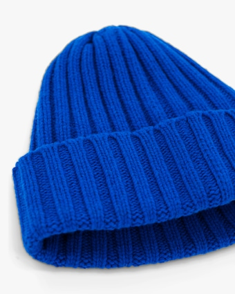 Carolyn Rowan Blue Bell Ribbed Beanie 2