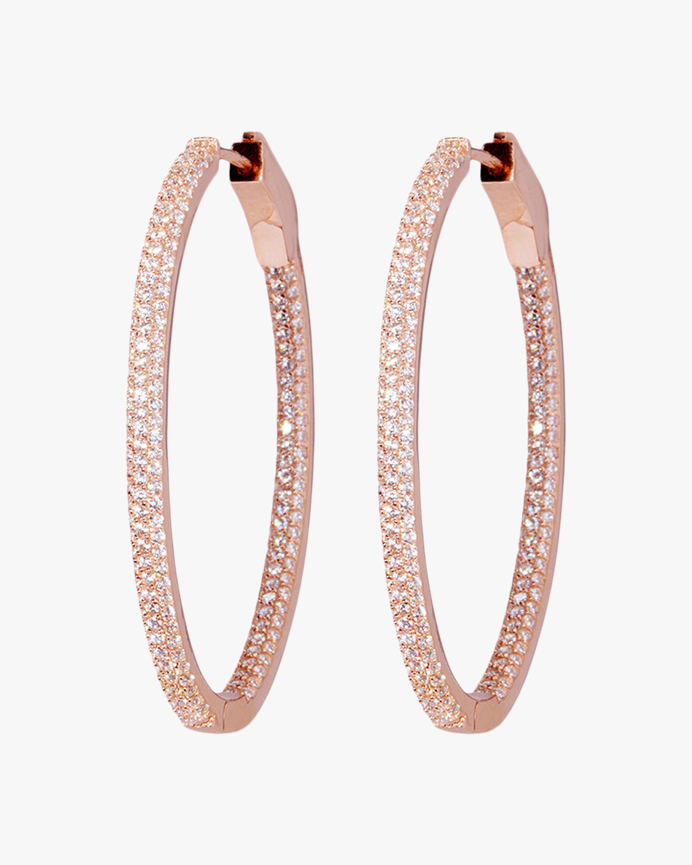 Nickho Rey Slim Oval Hoop Earrings 1
