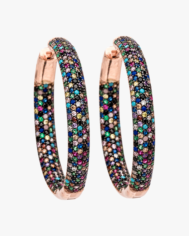 Nickho Rey Tire Hoop Earrings 1