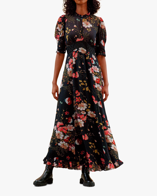 byTimo Delicate Semi Lace Maxi Dress 0