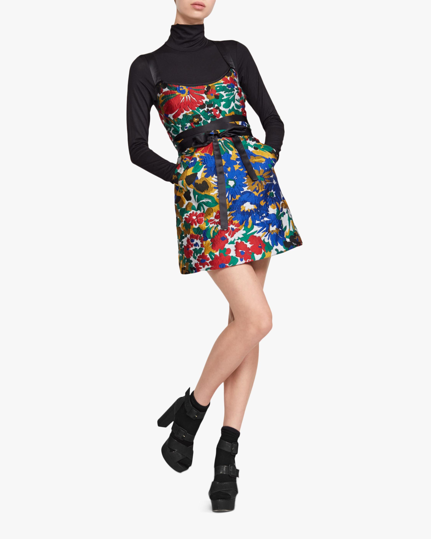 Cynthia Rowley Mackenzie Floral Jacquard Mini Dress 1
