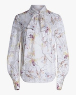Jason Wu Collection Wild Orchid Silk Satin Top 0