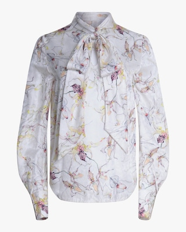 Jason Wu Collection Wild Orchid Silk Satin Top 1