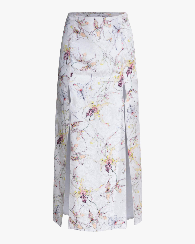 Jason Wu Collection Silk Satin Jacquard Skirt 1