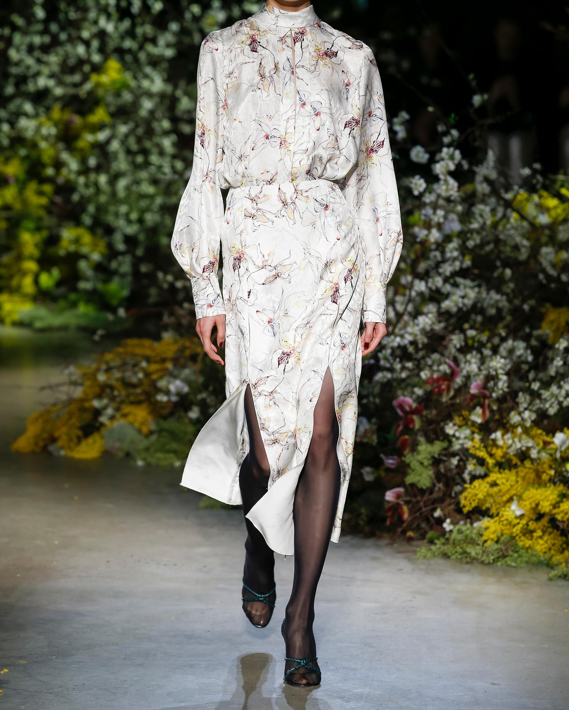 Jason Wu Collection Silk Satin Jacquard Skirt 2