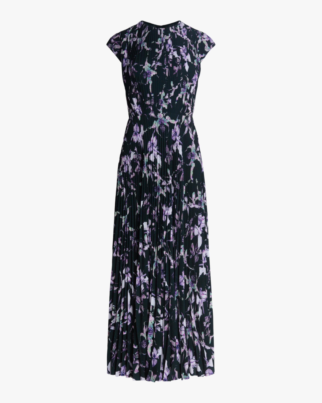 Jason Wu Collection Wild Orchid Crepe Midi Dress 1