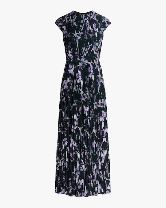 Jason Wu Collection Wild Orchid Crepe Midi Dress 0