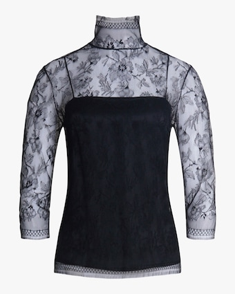 Adam Lippes Samira Lace Turtleneck 1