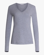 Adam Lippes Long-Sleeve V-Neck Top 0