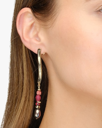 Akola Ora Linear Drop Earrings 2