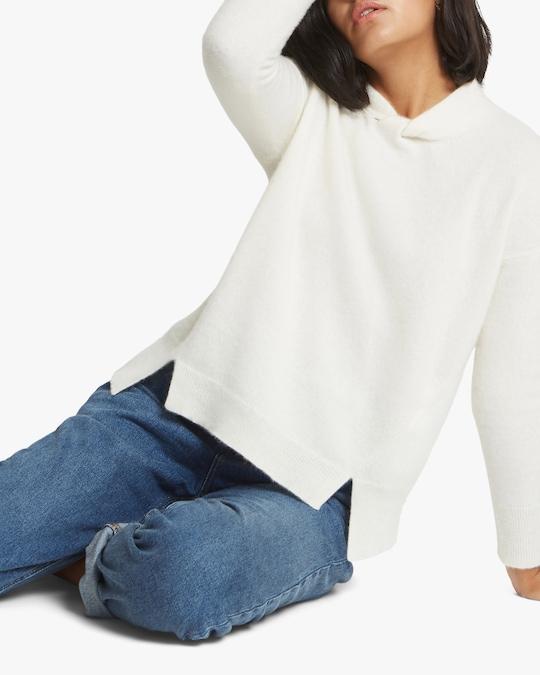 Santicler Knot-Detail Oversized Cashmere Sweater 1