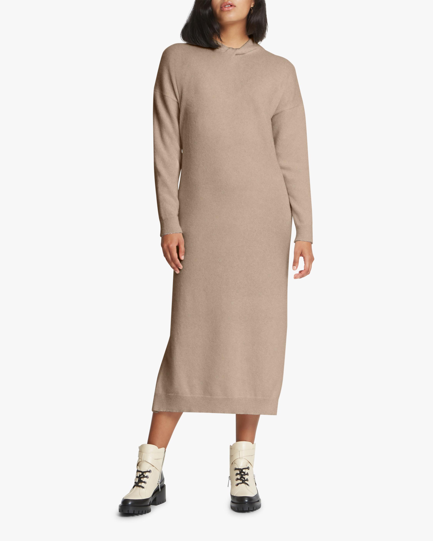 Santicler Twist Knot-Detail Cashmere Sweater Dress 1