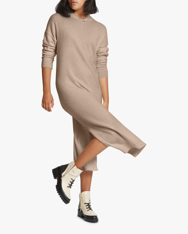 Santicler Twist Knot-Detail Cashmere Sweater Dress 3