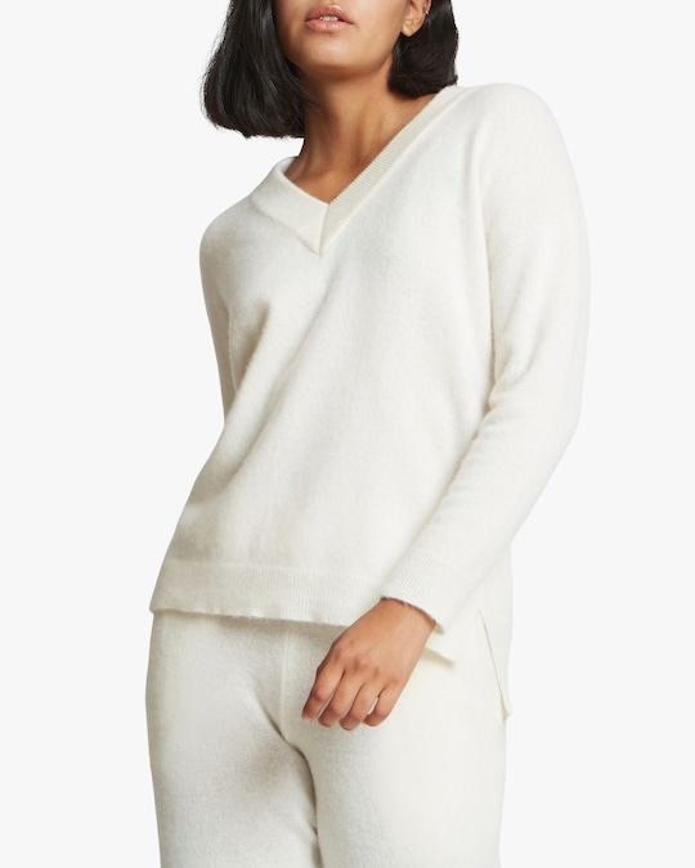 Santicler Crista V-Neck Cashmere Sweater 0