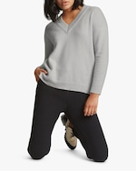 Santicler Relaxed V-Neck Cashmere Sweater 0