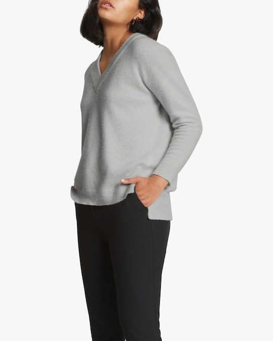 Santicler Relaxed V-Neck Cashmere Sweater 1