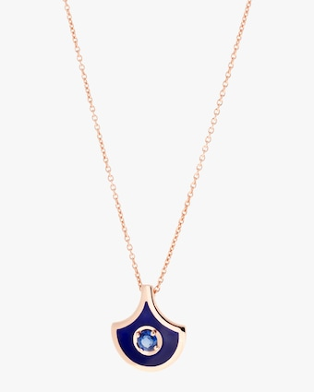 Selim Mouzannar Navy Enamel & Sapphire Pendant Necklace 1