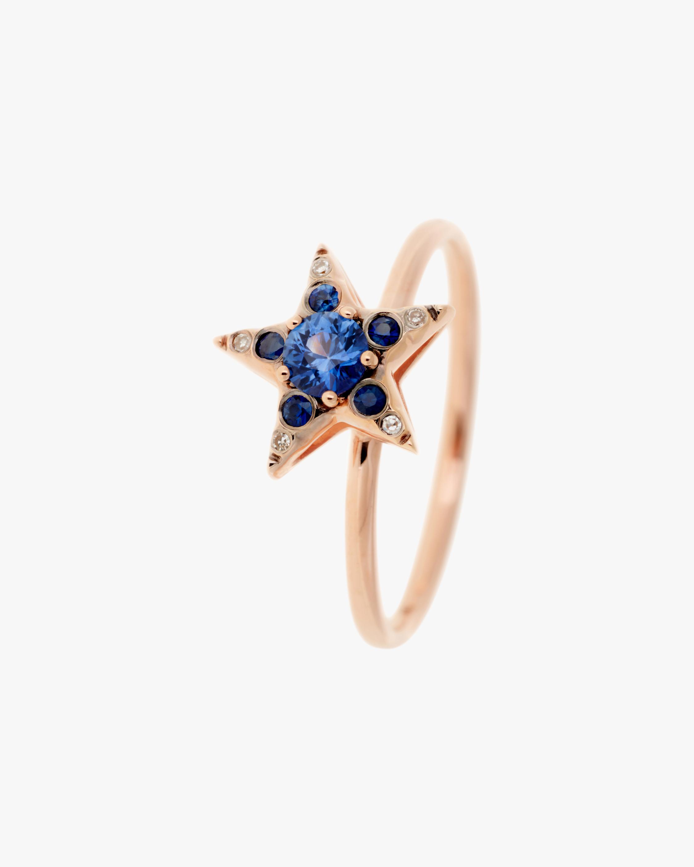 Selim Mouzannar Diamond & Sapphire Star Ring 0