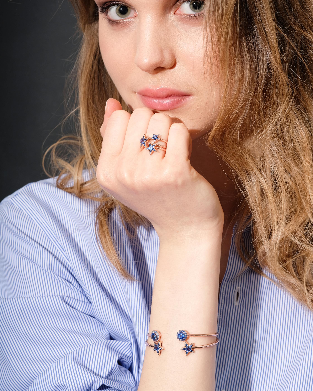 Selim Mouzannar Diamond & Sapphire Star Ring 1