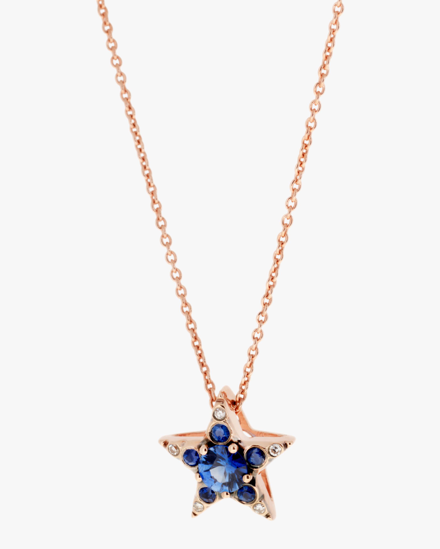 Selim Mouzannar Diamond & Sapphire Star Pendant Necklace 1