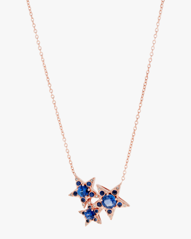 Selim Mouzannar Diamond & Sapphire Star Cluster Necklace 1