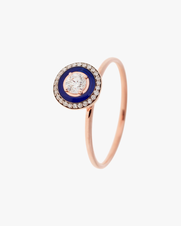 Selim Mouzannar Navy Enamel & Diamond Ring 1